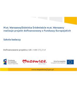 Plakat projektu unijnego szkoła badaczy